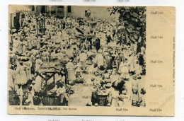 West Indies Dominica Postcard Roseau WI The Market By Jose Anjo Undivided Back 1900s - Dominica