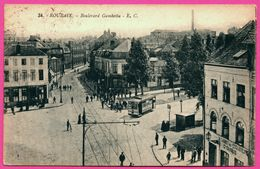 Roubaix - Boulevard Gambetta - Tram - Tramway - A L'arret Des Cycliste C. DUBUS - Animée - Edit. E. CAILLEUX - 1924 - Roubaix