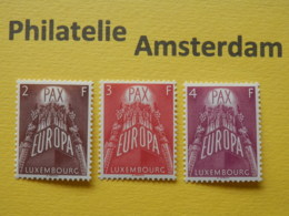 Luxembourg 1957, EUROPA / PAX: Mi 572-74, ** - Europese Gedachte