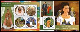 SIERRA LEONE 2019 - Frida Kahlo. M/S + S/S Official Issue. - Sierra Leone (1961-...)