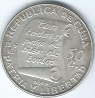 Cuba - 1953 - 50 Centavos - 100th Anniversary Of The Birth Of José Marti - KM28 - Cuba