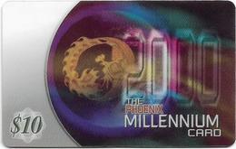 Singapore - Phoenix Comms - Millennium Card-Calendar - Prepaid 10$, Exp. 09.2001, Used - Singapore