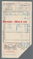 Note Compagnie Internationale Des Wagons-lits M858844 Du 15 Avril 1950 - Titres De Transport