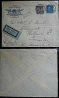 Tematiche Alberghi Svezia 1931 Posta Aerea Dal Grand Hotel Haglund Di Goteborg Per L'Inghilterra - Storia Postale