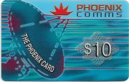 Singapore - Phoenix Comms - Satellite Dish, Prepaid 10$, Exp. 12.2001, Used - Singapur