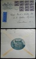 Tematiche Alberghi Svezia 1937 Busta Dell'Hotel Anglais Di Stoccolma L'Inghilterra Insegna E Foto Dell'hotel - Storia Postale