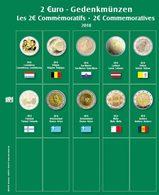 SAFE 7341-22 Münzblatt Mit Vordruck Für 2 EURO 2018 - Supplies And Equipment