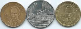 Cuba - 1 Peso - 1992 (KM347)  2007 (KM579.2) & 2012 (KM347.2) - Kuba