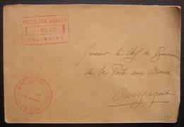 Maroc Taliouine 1932 Poste Aux Armées, Service Des Affaires Indigènes, Lettre Pour Ouarzazat -(secteur 405 Au Revers) - Lettres & Documents