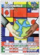Lote P2013- 9, Peru, 2013, Sello, Stamp, 2 V, VI Concurso De Dibujo Y Pintura, Pintura Infantil, School Child Painting - Peru
