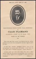 Généalogie-faire-part De Décés-carte-mortuaire : C. FLAMAND : 1935 - Décès