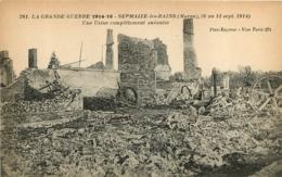 SERMAIZE LES BAINS UNE USINE COMPLETEMENT ANEANTIE GRANDE GUERRE 1914-16 - Sermaize-les-Bains