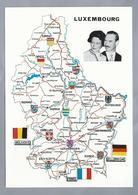 LU.- Le Grand-Duché De Luxembourg Avec Les Armes De Ses Cantons. Le Grand-Duc Jean Et La Grande-Duchesse Joséphine-Charl - Postkaarten