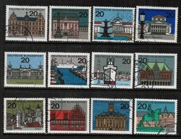 GERMANY  Scott # 869-79A VF USED (Stamp Scan # 476) - [7] Federal Republic