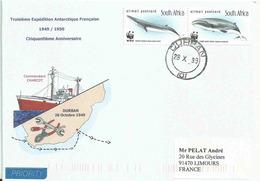 YT 1179 1180 - Baleines - 50 Ans De La 3e Expédition Antarctique Française - Afrique Du Sud (1961-...)