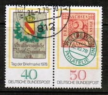 GERMANY  Scott # 1281-2 VF USED SE-TENNANT PAIR (Stamp Scan # 476) - [7] Federal Republic