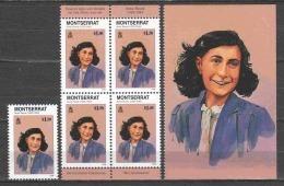 Montserrat 1998 Mi 1036 ANNE FRANK - Berühmt Frauen