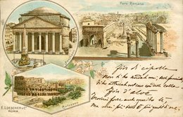 44084 Italia,  Postcard Circuled 1898  Showing Pantheon, Colosseum And Foro Romano - Panthéon