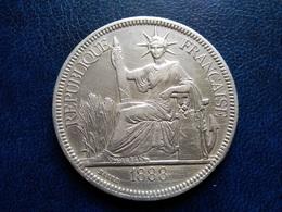 INDOCHINE   1  Piastre   1888   --  Indo-china - Kolonien