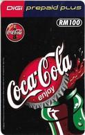 Malaysia - Digi - Enjoy Coca Cola - Remote Mem, 100RM, Exp. 01.07.2001, Used - Malasia