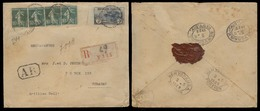 FRANCE - XX. 1928 (24 Feb). Paris - Curaçao (17 March). Reg AR Multifkd Env Incl 5fr Orphelines / Cds. Scarce Usage + De - France