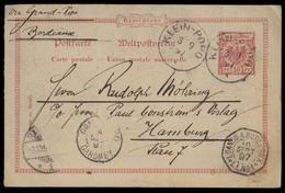 GERMAN COL-CAMERUN. 1897 (3 Sept). Forerunner. Klein Popo - Germany (3 Oct). 10pf Red German Stat / Cds + Via Dahomey + - Germany