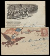 USA - Inland. 1862 (9 Oct). Camp Richmond / Bay View Virginia - Rural Hill / NY. Civil War Ilustr Env With Full Contains - Unclassified