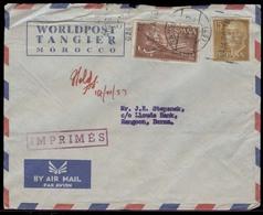 MARRUECOS. 1957. Tanger - Burma. Tarifa Aerea Con 5 Pta 15c. Franco. Muy Scasos Sellos De Uso En Esta Localidad + Dest. - Morocco (1956-...)