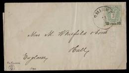 AUSTRIAN Levant. 1889 (2 Dec). Smyrna - UK (17 Jan). Posted Matter Single Fkd 10p / 3kr / Cds. With Arrival Cds. 2nd Iss - Austria