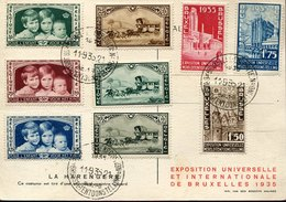 44087,belgium, Special Card And Postmark 11.9.1935 Bruxelles,  Exposition Universelle Inter.de Bruxelles 1935 - 1935 – Brüssel (Belgien)