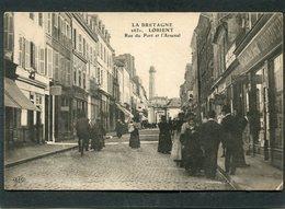 CPA - LORIENT - Rue Du Port Et L'Arsenal, Très Animé - Lorient