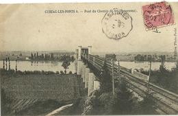 Cubzac Les Ponts Pont Du Chemin De Fer Panorama Cachet Convoyeur Bordeaux A Saintes - Cubzac-les-Ponts