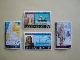 1972  Ascension Yvert  161/4  ** Bateaux Ships  Cote 7.50 € Scott 160/3  Michel 160/3 SG  159/62 Shackleton - Ascension (Ile De L')