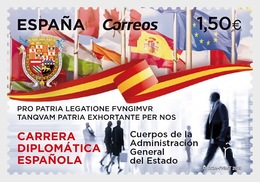 H01 Andorra Spain 2019 Spanish Diplomatic Career MNH Postfrisch - Ungebraucht
