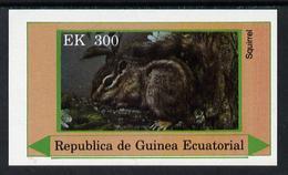 880 Equatorial Guinea 1977 European Animals (Squirrel) 300ek Imperf M/sheet Unmounted Mint - Stamps
