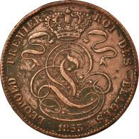 Monnaie, Belgique, Leopold I, 5 Centimes, 1853, TB+, Cuivre, KM:5.1 - 1831-1865: Léopold I