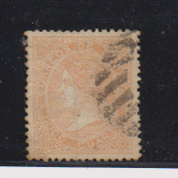 Año 1867  Edifil 89 12cu Isabel II   Matasellos Rejilla - 1850-68 Kingdom: Isabella II