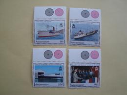1990  Ascension Yvert  517/20  ** Bateaux Ships Cote 15.00 € Scott 493/6  Michel 535/8 SG  531/4 - Ascension (Ile De L')