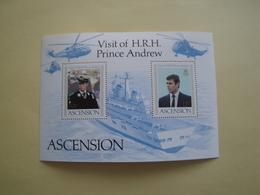 1984  Ascension Yvert  BF 14  ** Bateaux Ships Cote 4.50 € Scott 349  Michel B 14  SG  Ms 358 Visit Prince Andrew - Ascension (Ile De L')