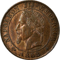 Monnaie, France, Napoleon III, Napoléon III, Centime, 1862, Paris, SUP, Bronze - A. 1 Centime