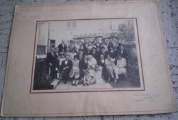 PHOTO Originale De MARIAGE   Sur Carton  Groupe De Personnes VICHY Allier - Persone Anonimi