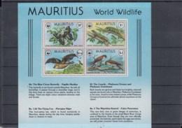 Mauritius (BBK) Michel Cat.No. Mnh/** 463/466 + Sheet 8 Wwf Issue - Maurice (1968-...)