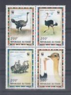 Tschad (BBK) Michel Cat.No. Mnh/** 1370/1373 Wwf Issue Birds - Chad (1960-...)