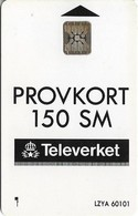 Sweden - Telia - Provkort Test Card, 1992, 150U, SC5, Cn. 39401, 10.000ex, Used - Suecia