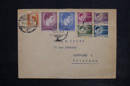 ROUMANIE - Affranchissement Plaisant De Sibiu Sur Enveloppe En 1947 Pour La Belgique , Vignette Au Verso - L 26363 - 1918-1948 Ferdinand, Charles II & Michael