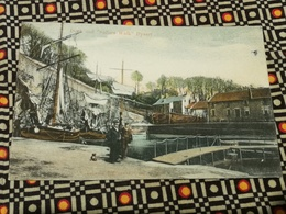 CPA UK SCOZIA SCOTLAND DYSART Dock And Sailors Walk Ship Old Postcard - Fife