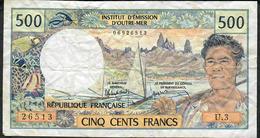 TAHITI P25d 500 FRANCS 1985 Signature 5 AVF 2 P.h. - Papeete (French Polynesia 1914-1985)