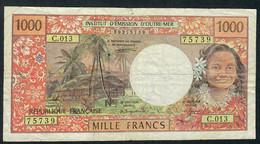 F.P.T. P2a 1000 FRANCS 1995 Signature 3  F-VF - Französisch-Pazifik Gebiete (1992-...)