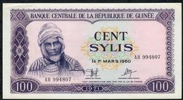 GUINEA P19 100 SYLIS 1971 XF-AU - Guinea