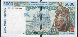 W.A.S. BURKINA FASO P313Cl 5000 FRANCS (20)02  UNC. - États D'Afrique De L'Ouest